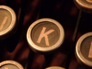 Kのボタンの写真
