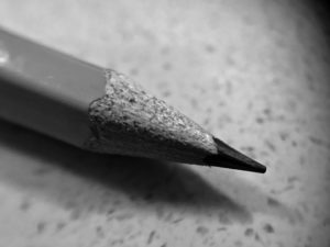 モノクロの鉛筆の写真